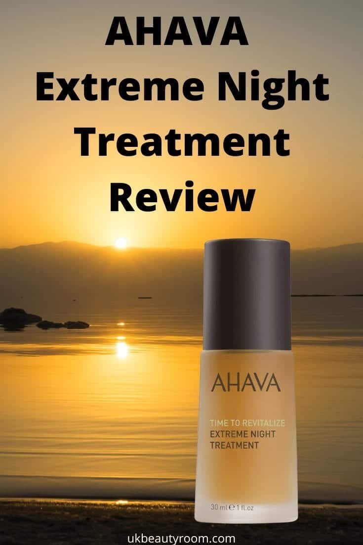 AHAVA Extreme Night Treatment Review.  Hebrew Products, Skincare, Israel, Dead Sea, faces, moisturiser, hands, moisturizer, face, hydration cream mask, facial oil, benefits, anti ageing, aging, moisurizing, routine, overnight, time to revitalize, visibly improves wrinkles, smoother skin, smoother skin tone, texture, serum