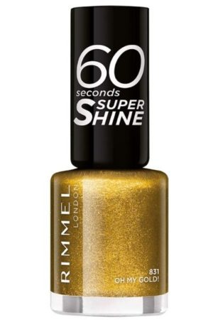 Rimmel 60 Seconds Glitter Nail Polish, Oh My Gold