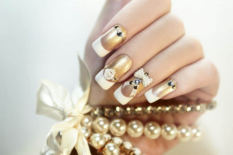 White Nails With Gold & Other Nail Designs Seen on the Catwalk!