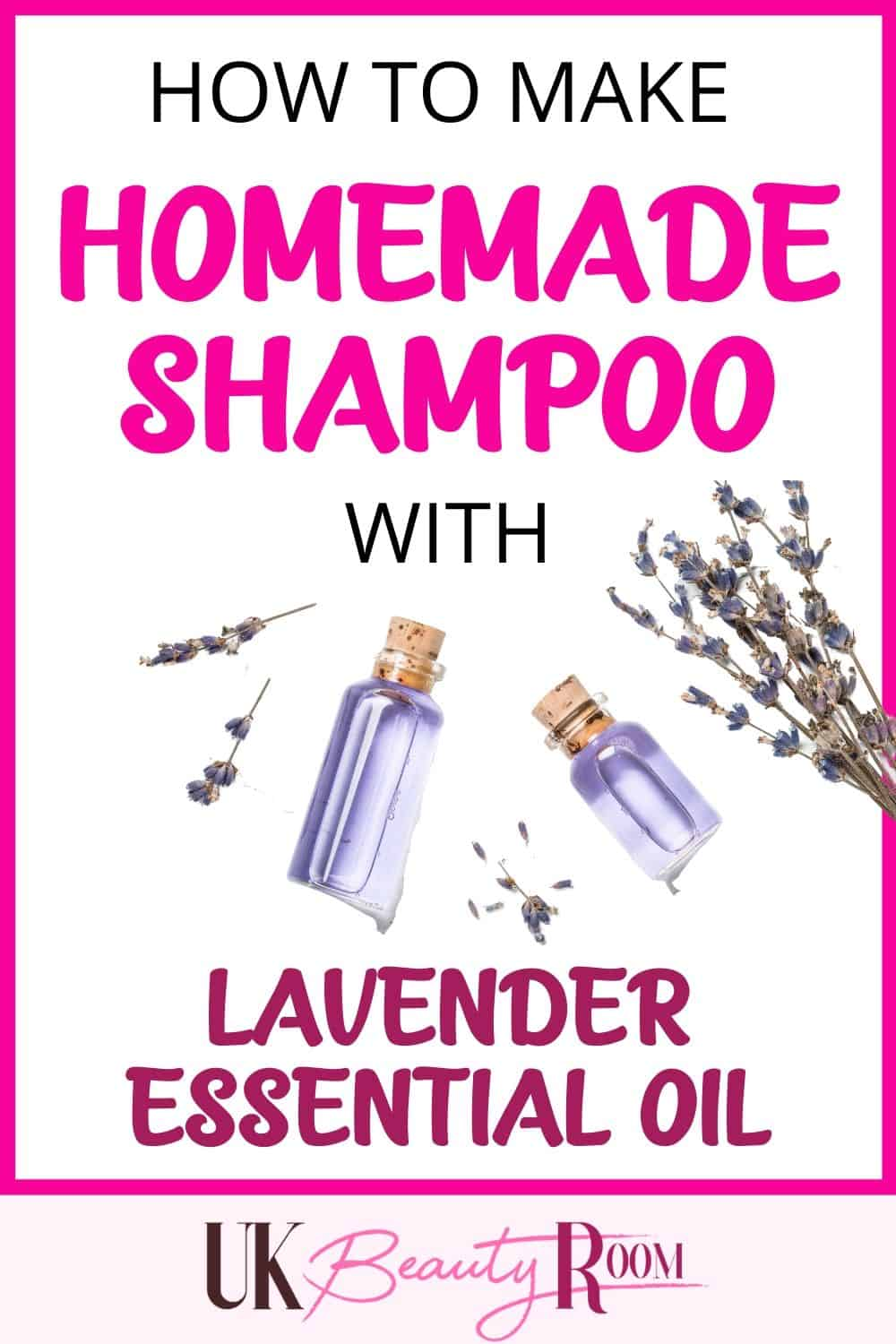 How to make homemade shampoo with lavender essential oil for hair