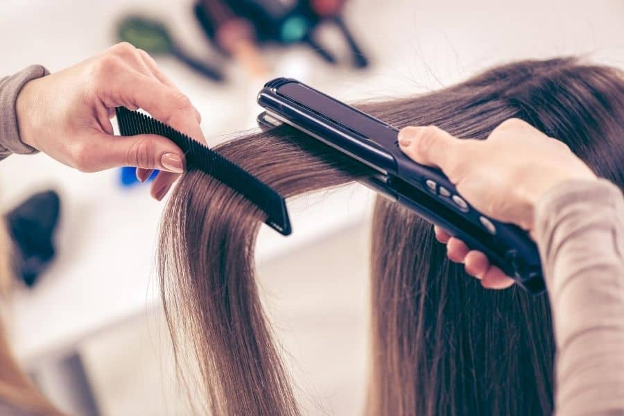 straightening hair with leave in conditioner, best heat protection spray for straighteners, leave in conditioner as heat protectant