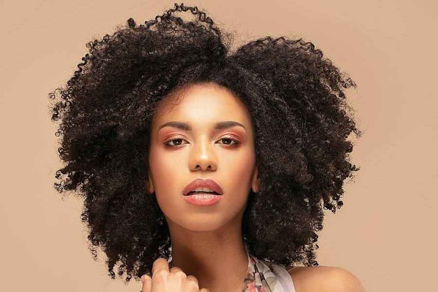 curl pattern, 4b natural hair type