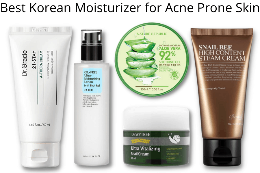 Best Korean Moisturizer for Acne Prone Skin