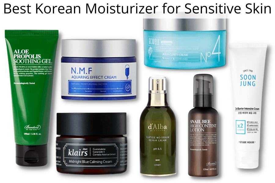 best korean moisturizer for sensitive skin UK