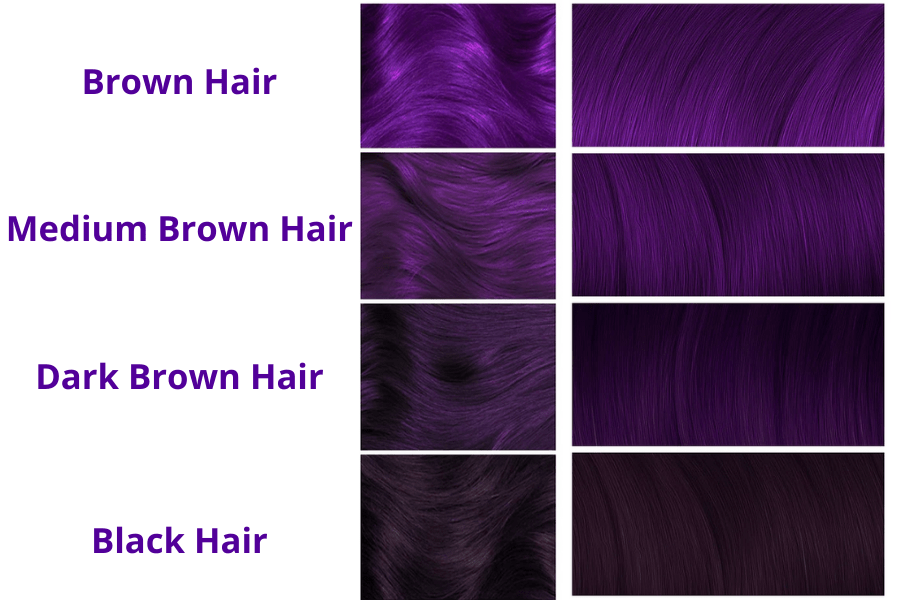 dyed hair purple, purple dye on brown hair, purple hair dye dark hair, dye hair purple, purple dyed hair, purple dye in brown hair, purple dye on brown hair no bleach, colour hair purple, black hair dyed purple, purple hair dye for dark hair