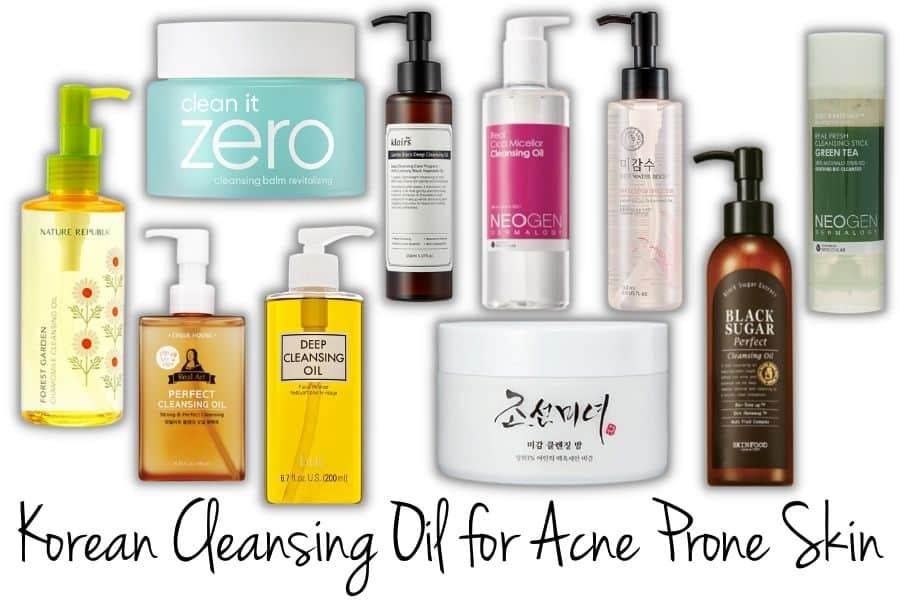 Korean Cleansing Oil for Acne Prone Skin
